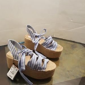 Zara wedge sandal